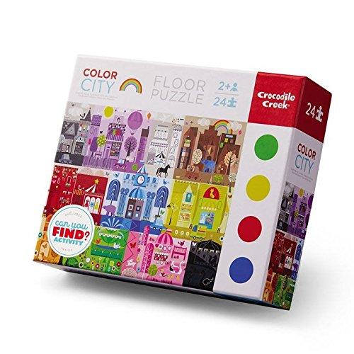 Crocodile Creek puzzel, vroeg leren (24-delig) Kleurstad (Color City) 1 EA rood/violet/blauw/geel/groen.