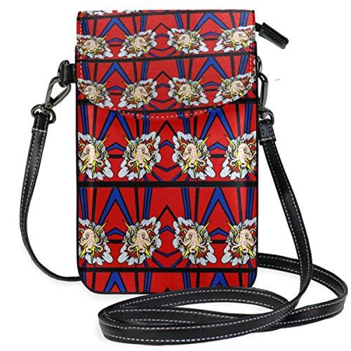 Monedero de teléfono celular con patrón de pulpo para mujeres y niñas, pequeñas bolsas