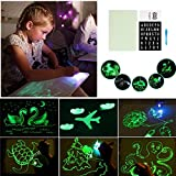 TEN-G Light Up Drawing Board, Reusable Doodle Pad With Alphanumeric Writing Board And Highlighter...