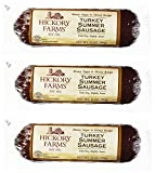 Hickory Farms Turkey Summer Sausage 10 Ounces (Pack of 3)