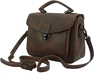 FLORENCE LEATHER MARKET Borsa a mano da donna in pelle 25x10x20 cm - Montaigne - Made in Italy