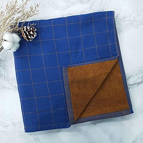Lankfun Toalla Grande de algodón Adulto Azul marrón gant Medias de Playa-Azul marrón_70 * 140cm