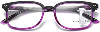 Inlefen Retro Progressive mult-focus anti-blue Rays Reading Glasses Full Frame Unisex Eyeglasses +1.00 To +4.00
