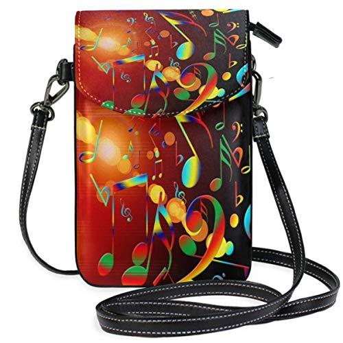 XCNGG bolso del teléfono Dance Music Treble Clef Sound Cell Phone Purse Wallet for Women Girl Small Crossbody Purse Bags