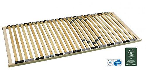 Pro-Manufactur 7-Zonen-Lattenrost starr 90x200 cm mit individueller Härtegradverstellung