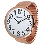 Geneva Super Large Stretch Watch Clear Number Easy Read (Rose Gold)
