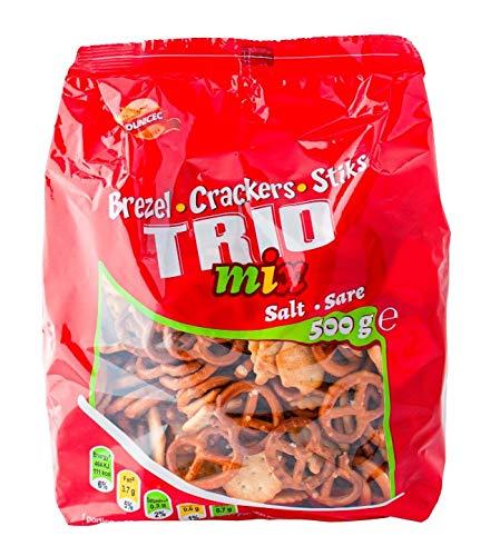 SNACK TRIO MIX SALATINI KG1.5 Brezel, Crackers, Sticks 3X500g