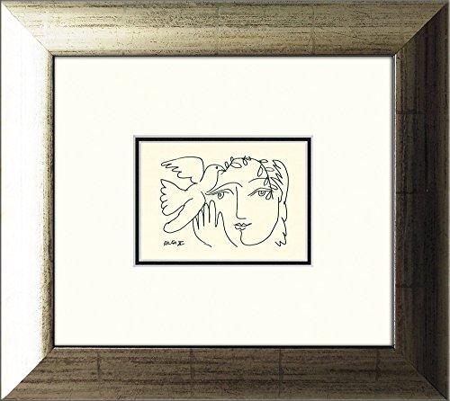 artissimo, Kunstdruck gerahmt, 39x35cm, AG3801, Pablo Picasso: Femme Endormie, Bild, Wandbild, Poster, Wanddekoration
