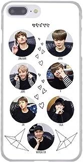 BTS Kpop Bangtan Boys Band Korean Gift Rapmonster Jin Suga J-Hope Jimin V Jungkook Music Transparent Hard Cover Case for i...