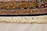 Lifetex.eu Teppich Ghom Seide Kaschmir ca. 195 cm rund Braun handgeknüpft Seide Klassisch hochwertiger Teppich - 2
