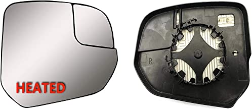 Brand New Passenger Right Side Replacement Mirror Glasses Small Housing With Heated And Plate Fit Ford Transit Connect XL,XLT and TITANIUM From 2014-onward