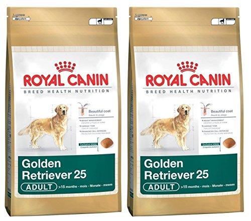 2 x 12 kg Royal Canin Golden Retriever 25 Dry Adulto comida para perro