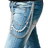 Pants Chain for Men, Biker Skull Chain Wallet, Trousers Pocket Chains EMO Punk Jeans Key Chains Belt