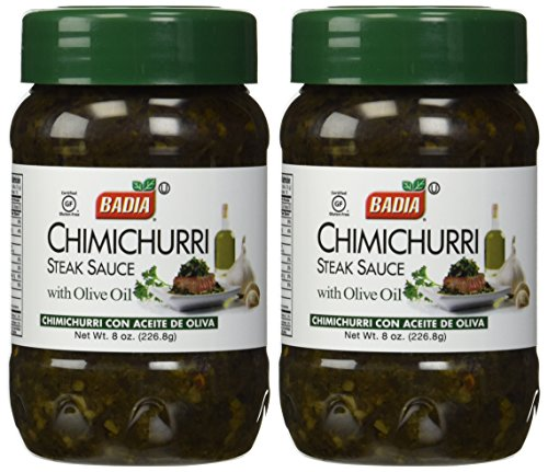 Badia Chimichurri Steak Sauce with Olive Oil, 8 oz (2 Pack)