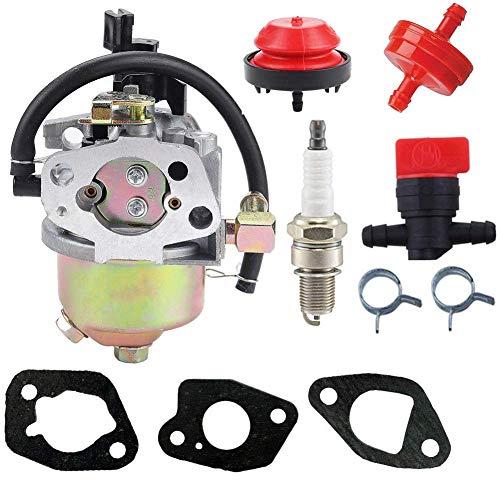 JJDD Ersatz-Vergaser-Kraftstofffilter, Grundierung, Zündkerzen-Set für Huayi 170SA Yard Maschine Schneefräse MTD 951-10368 951-10638A 751-10638 751-10638A 951-14026A 951-14027A
