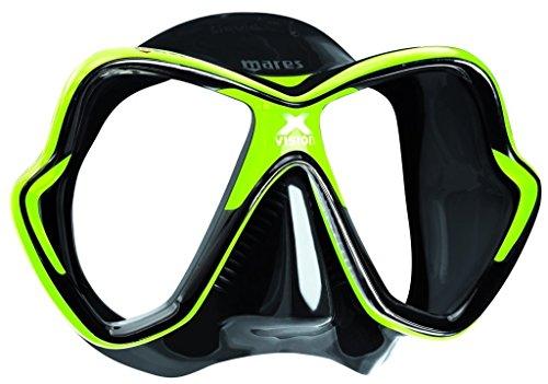 Mares Erwachsene X-Vision Mask 14 Taucherbrille, Schwarz/Grün, BX