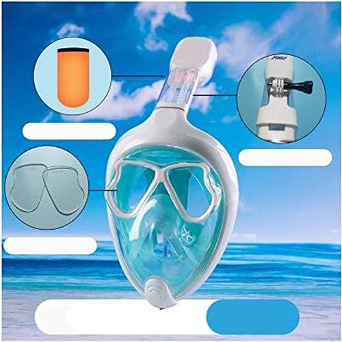 YFH Puede equiparse con una máscara de Espejo de Buceo de Cara Completa de Cristal de miopía, máscara Completa, Equipo de Snorkel, Hombres y Mujeres, máscara de Buceo para Adultos