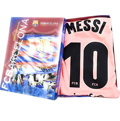 Kit Camiseta y Pantalon Tercera Equipación 2018-2019 FC. Barcelona - Réplica Oficial Licenciado - Dorsal 10 Messi