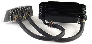 Huanhuan Department Store Aluminium Fit for Motorfiets Olie Koeling Cooler Radiator Olie Koeler Set 158mm Zwart SO 07 (Col...