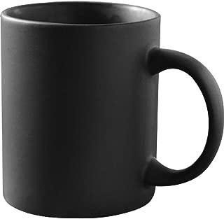 12 oz Matte Black Porcelain Coffee Mugs, Smilatte M010 Classic Ceramic Cup with Hanlde for Latte Cappuccino Tea