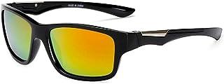 SGJFZD Men's Sports Windshield UV400 PC Sunglasses Outdoor Cycling Glasses Men's Polarized Sunglasses (Color : Orange)