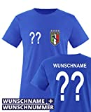 Comedy Shirts - WM 2014 - Italien - Wunsch - Kinder T-Shirt - Royalblau Gr. 98-104