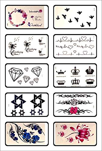 •JLS 30 Sheets of Small Temporary Tattoos, tattoo stickers for women, butterfly temporary Face tattoos, Small body tattoo, Face Stickers For for adults And Kids.