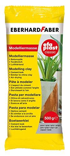 Eberhard Faber 570373 - EFAPlast Modelliermasse, 500 g, grau