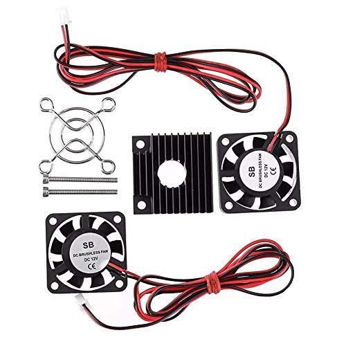 GzxLaY Accesorios de computadora de la impresora 3D, 12V 2500±10% de velocidad del ventilador de enfriamiento de disipación de calor kit de disipador de calor para piezas de impresora 3D