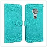 Cas de protecteur de téléphone Pour Motorola Moto E5 Play motif d'impression pressé étui en cuir...