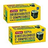 Alfapac – 20 bolsas de 20 litros con asas – Bolsas compostables – Lote de 2