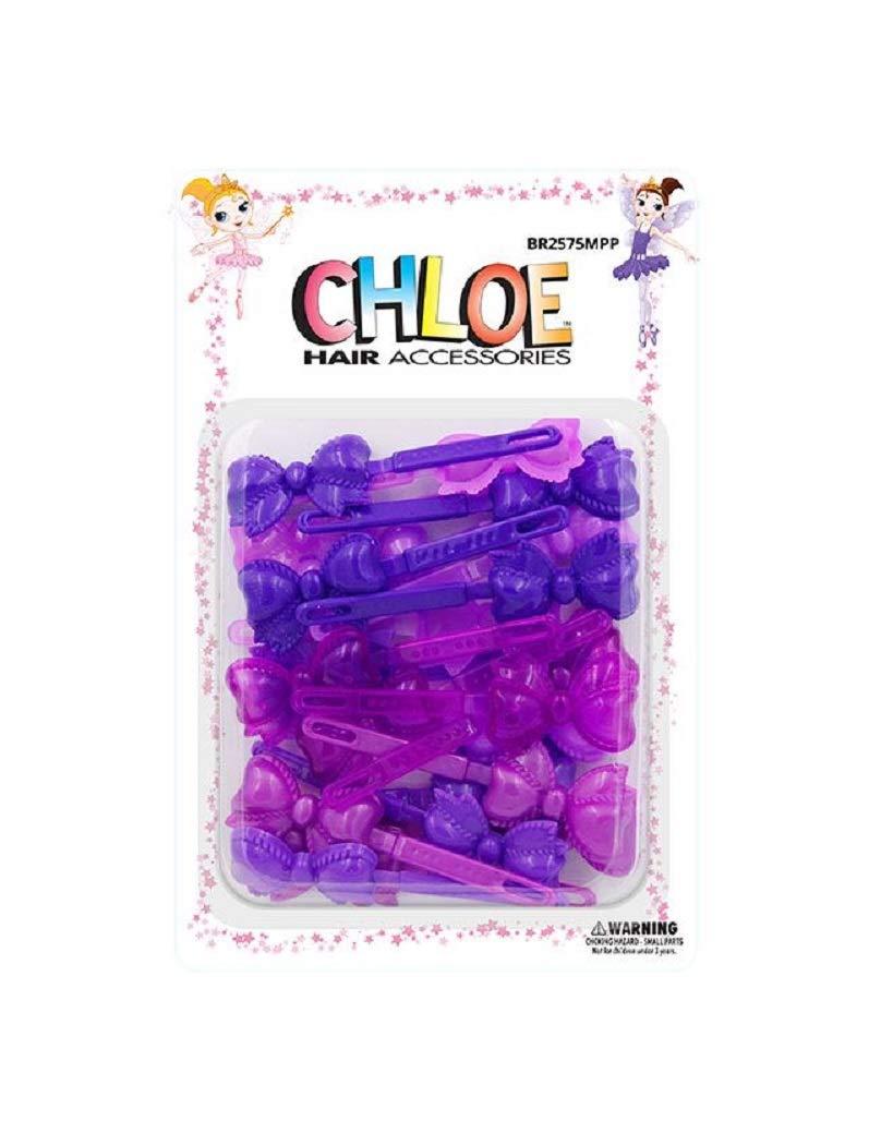 Chloe Special sale item Hair Barrettes- Ribbon Purple Tone 5% OFF