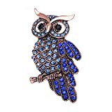 N-K PULABO Crystals Owl Broches Animal Corsage para Mujer Bufanda Joyería,3 Nuevo Lanzado Moda