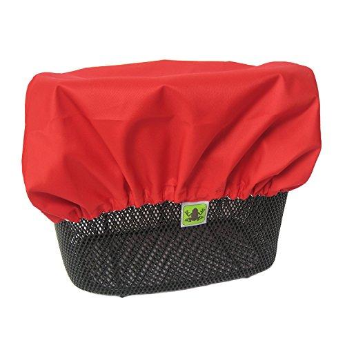 MadeForRain Wasserdichter Regenschutzbezug für Fahrradkörbe CityTurtle - Tomatenrot