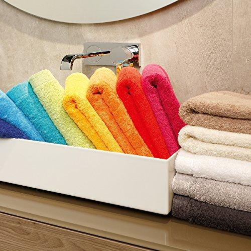 Cawö Life Style Uni 7007, 100 % algodón, gris, Toalla de invitados: 30 x 50 cm