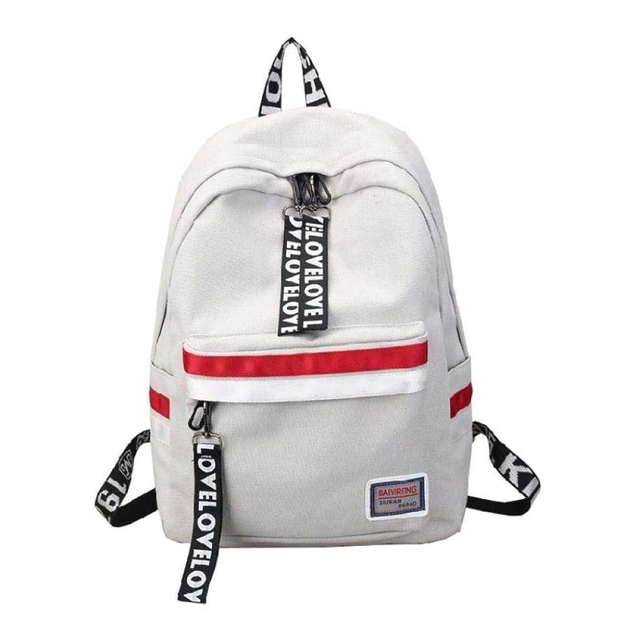 責保育園論理的子供のためのCS-PYY-Backpack School Bookbag スクールバッグ、女子高校中学生バッグ女子キャンパス高校生シンプルワイルドキャンバスバックパック旅行レジャーバックパック 女の子とティーン向けのCS-PYYバックパック (Color : Gray, Size : Other)