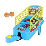 Juego eléctrico de baloncesto de mesa, doble disparar 2 jugadores con 2 bolas, incluyendo marcador electrónico y flash LED genial, adecuado para niños y niñas de 4 años y más.