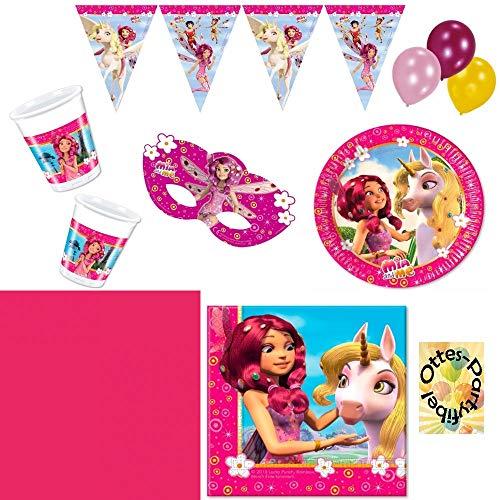 Mia and Me Partyset Teller Becher Servietten Tischdecke Dekoration 54 Teile für 6 Kinder