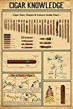 Funny Cosmos Cigar Knowledge Poster Cigar Size Shape Colours Size Chart Poster