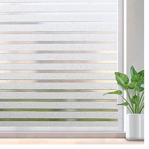 Raamsticker Gestreepte raamsticker Niet-klevende privacyfolie, vinylglasfolie Venstertint voor thuiskeuken en kantoor, 60x200cm