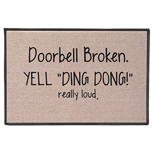 SIGNALS Doorbell Broken Yell Ding Dong! Really Loud Doormat...