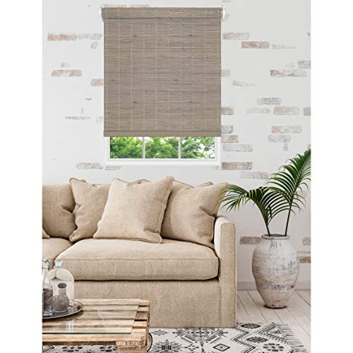 "Achim Home Furnishings, Driftwood Cordless Bamboo Roll Up Window Blinds, 36""x72"""