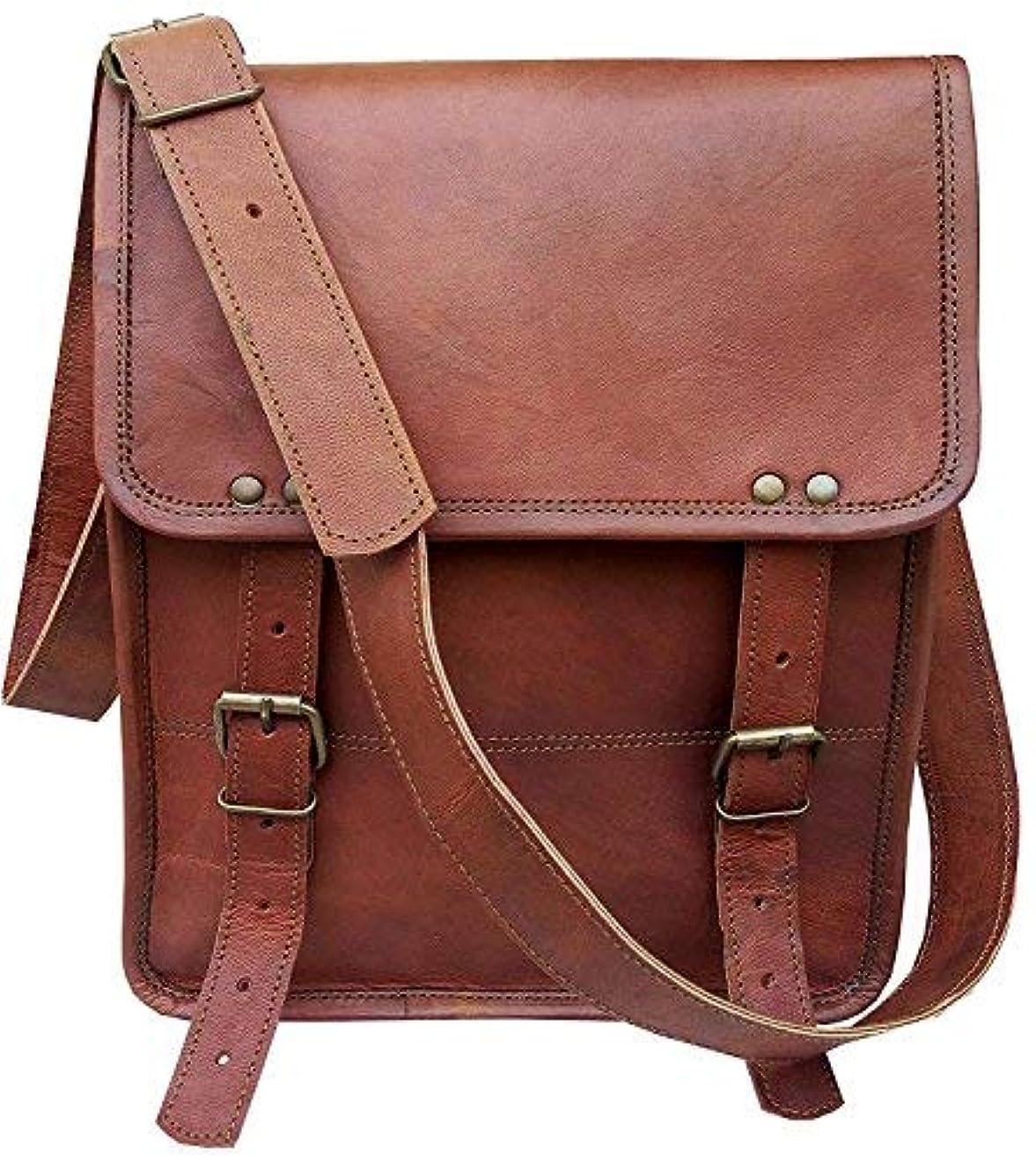 Vintage leather 11 Inch Handmade Standing Ipad Tablet Leather Messenger Satchel Bag