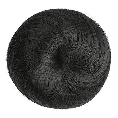 ZOYLINK Hair Bun Extension Banda Elástica Recta Moño De Pelo Postizo Sintético