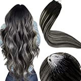 LaaVoo 18 Pulgadas Micro Ring Hair Extensions 50g/50s Extens
