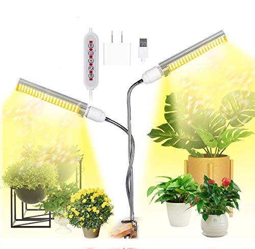 Luces de cultivo LED para plantas de interior Full Spectrum 100W Lámpara de cultivo de luz solar regulable, mejorada y mejorada 176 LED Lámpara de crecimiento Profesional para plántulas