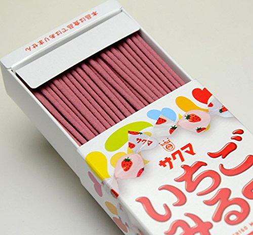 ハセガワ仏壇 線香 お香 約50g [サクマ いちごみるく] 家庭用線香 アロマ線香 スティックタイプ 約93mm