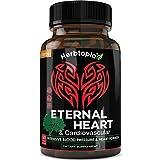 Eternal Heart High Blood Pressure Support Supplement for Heart & Circulatory Health - Lower BP Naturally, w/Potent Vitamins & Herbs - CoQ10, Vitamin K2 Mk7, Dan-Shen, Hawthorn, Olive Leaf