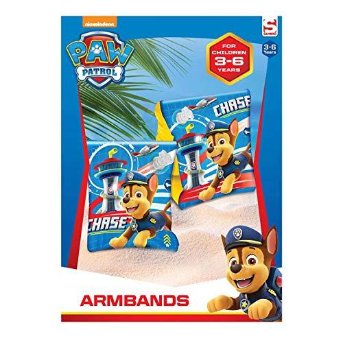 Sambro PWP16-3903-1 Schwimmflügel, Paw Patrol Motiv mit Chase, für Kinder von 3 bis 6 Jahren, mit Sicherheitsventil, ideal für Pool, Strand und Schwimmbad