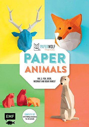 Paper Animals: Volume 1: Fox, Deer, Meerkat and Bear Family